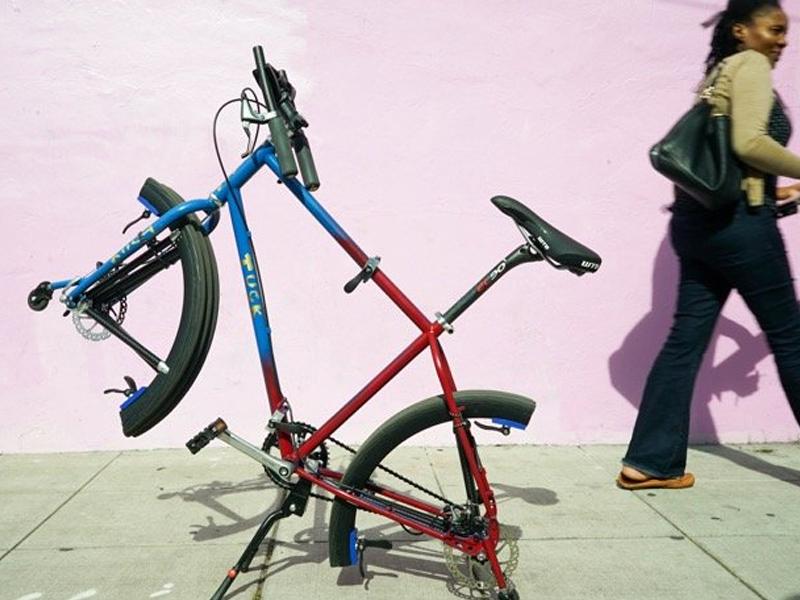 Tuck Bike: la bici pieghevole di dimensioni normali, con le ruote che si piegano
