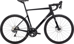 Bici da Corsa Race Cannondale Supersix EVO Carbon Disc Ultegra - 2020 Matte Black,Goldfinger - 44,48,51,54,56,58,60,62 (Cussigh Bike Udine, Tavagnacco)